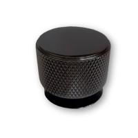 Ручка мебельная ROLLER кнопка d=34 мм черный хром