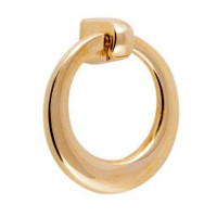 Ручка мебельная Berfino кольцо-подвеска золото 068-S-13