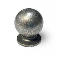Ручка мебельная Berfino d=22 античное серебро 768-22-18